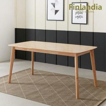 핀란디아  데니스 내추럴 식탁 1600 (의자별도)