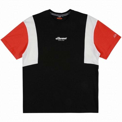 엘레쎄 블로킹 루즈핏 반팔 티셔츠 EJ2UHTR387 BK_이미지