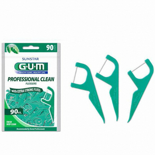 GUM 프로페셔널 크린 치실 90개(1개)