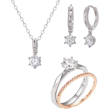[3종] 몰리즈 18K 오에리 다이아몬드 세트