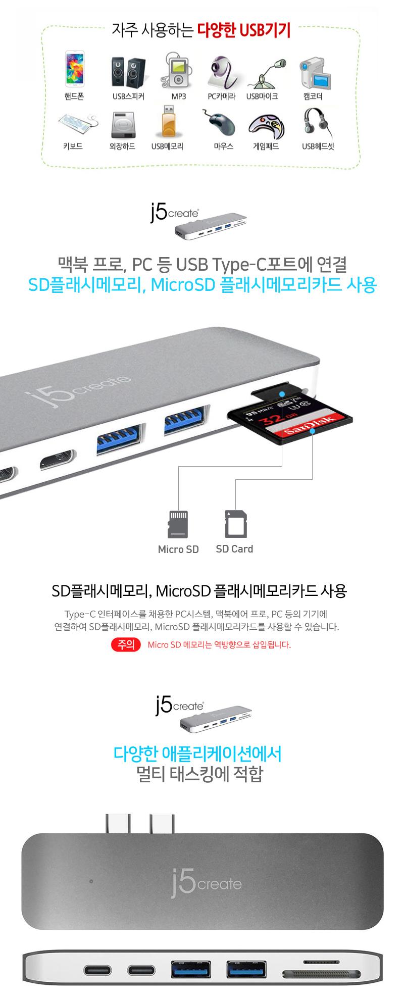 j5create  Type C Mini Dock for MacBook Pro (JCD382)