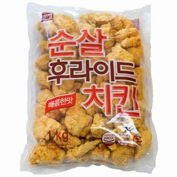 오뗄 순살 후라이드 치킨 매콤한맛 1kg