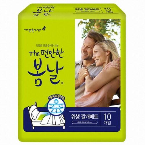 깨끗한나라 The편안한 봄날 위생 깔개매트 10개 (10팩(100개))_이미지