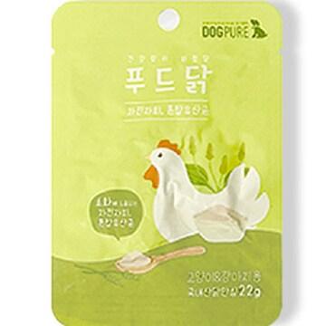 도그퓨어 푸드닭 통살간식 차전자피&혼합유산균 22g (1개)_이미지