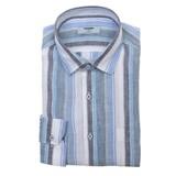 레노마  스트라이프 슬림핏 긴소매 셔츠 RILSL1-153-BU_이미지