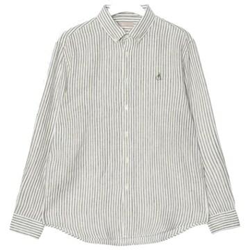 빈폴 카키 리넨 스트라이프 셔츠 BC0364A30H