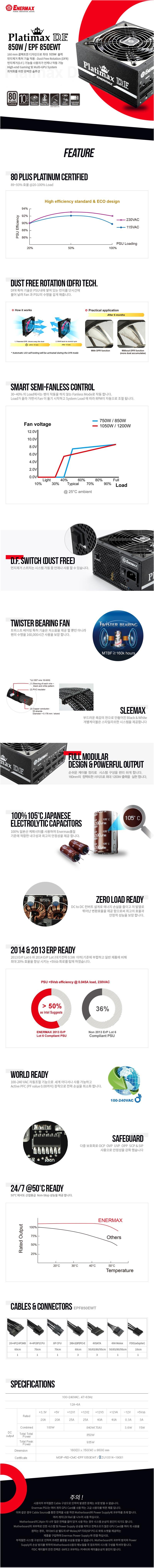 Enermax  Platimax D.F. EPF850EWT 80Plus Platinum Full Modular