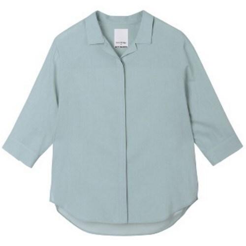 마인드브릿지 여성 레이온 혼방 루즈핏 7부셔츠 MTWS3202_이미지