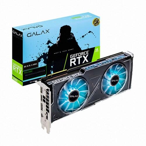 갤럭시 GALAX 지포스 RTX 2080 BLACK LABEL D6 8GB_이미지