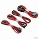Phanteks PH-Extension Cable Combo Set BLACK/RED (0.5m)