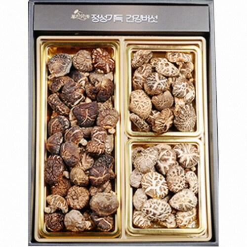 누리원  표고버섯 선물세트 250g 흑화고 동고 백화고 (1개)_이미지
