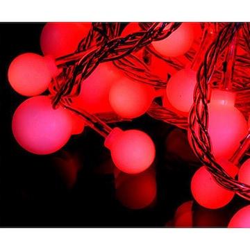 LED 앵두전구 투명선 빨간색 100구