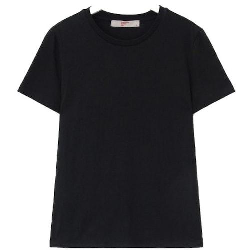 삼성물산 에잇세컨즈 블랙 베이직 데일리 티셔츠 358742CY15_이미지