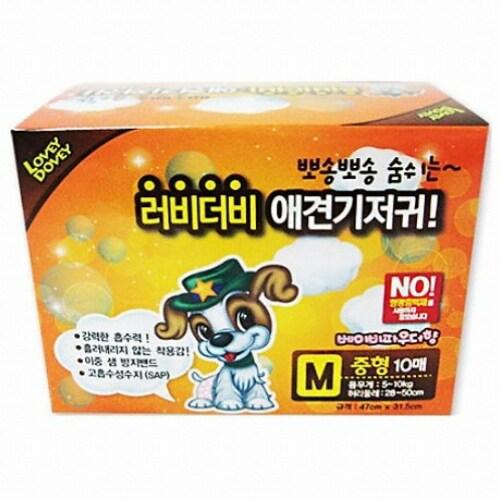 펫스토리 러비더비 기저귀 M 10매 (3개)_이미지