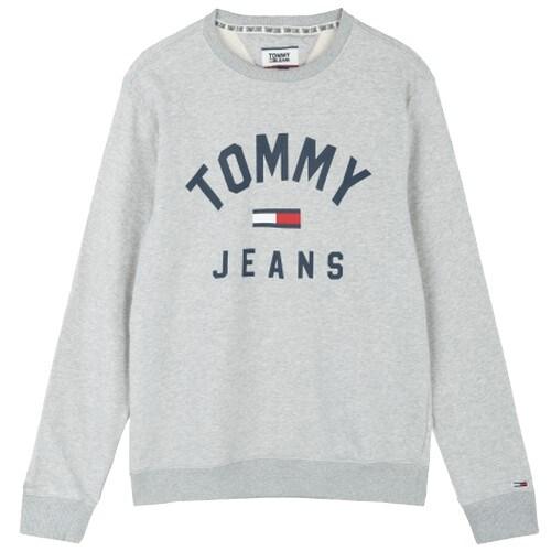 타미진 남녀공용 면혼방 로고 크루넥 티셔츠 T31J7TTO022MT6 P01_이미지
