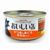 이나바펫푸드  오이시 캔 참치 + 가다랑어 + 치킨 80g (1개)_이미지