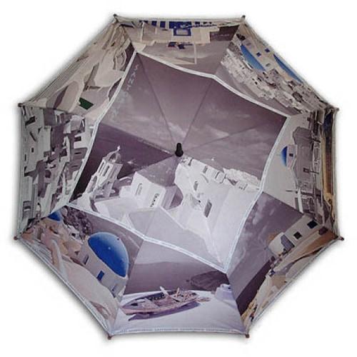 레인보우 헬로우레인캣츠 산토리니BW 자동 우산_이미지