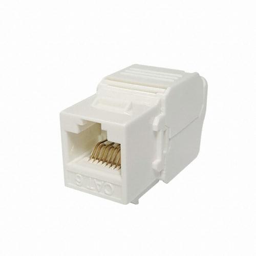 라인업시스템 LANSTAR LSP-6KTVM-U1WT CAT.6 UTP Tooless 키스톤잭 모듈_이미지