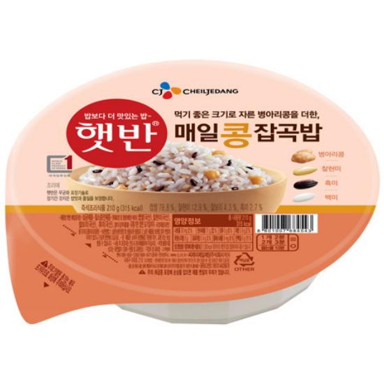 CJ제일제당 햇반 매일콩잡곡밥 210g(1개)