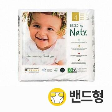 네띠 친환경 기저귀 밴드 4단계(대형) 공용 27매(4팩 (108매))