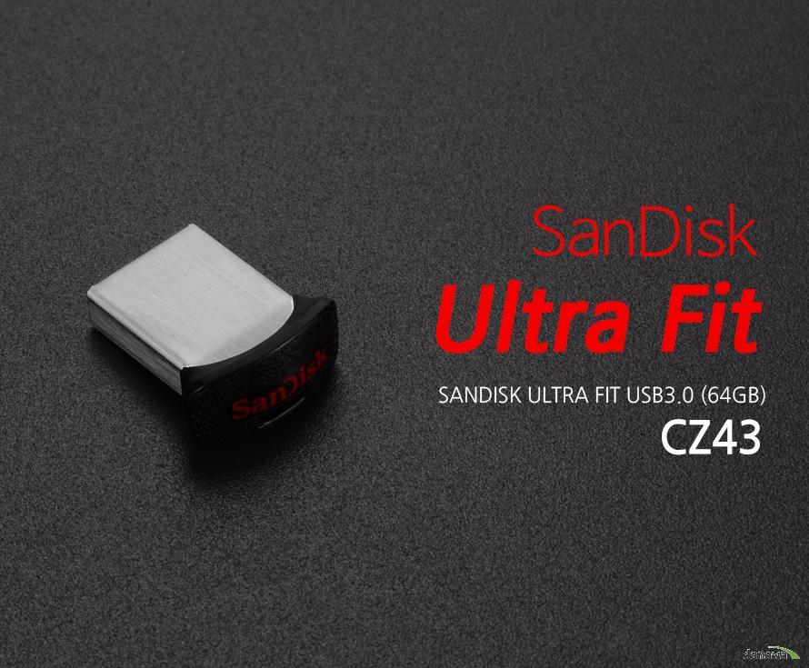 Sandisk Ultra Fit CZ43 USB3.0 (64GB)  바쁜 생활속 USB 3.0의 더 빠른 속도  -최대 130MB/s 전송률로 대용량 파일과 데이터를 빠르게 전송할 수 있어, 사용자가 더욱 편리하고 효율적으로 작업이 가능합니다.  저장공간으로 부터 자유를 느껴보세요  -고용량의 데이터, 영화, 드라마, 음악 등 다양한 파일들을 용량 걱정없이 USB에 담아 자유롭게 데이터를 쓰고 읽을 수 있습니다.  데이터를 안전하게 암호보안기능  -샌디스크 울트라 핏은 자체적으로 암호 설정이 가능하여, USB에 저장된 중요한 데이터를 안전하게 보호해줍니다.  작고 가벼운 세련된 디자인  -작지만 강한 샌디스크 울트라 USB3.0 모든기기에 연결한 채로 언제 어디서든 자유롭게 사용할 수 있습니다.   specification 제품명 : Sandisk Ultra Fit CZ43 USB3.0 용량 : 64GB  제품크기 19.1mm x 15.9mm x 8.8mm  인터페이스 : USB 3.0  속도 :  전송률 130MB/s KC인증번호 : MSIP-REM-TAD-SDCZ43