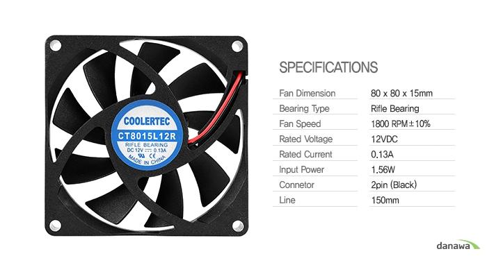 COOLERTEC CT-8015L12R-2P