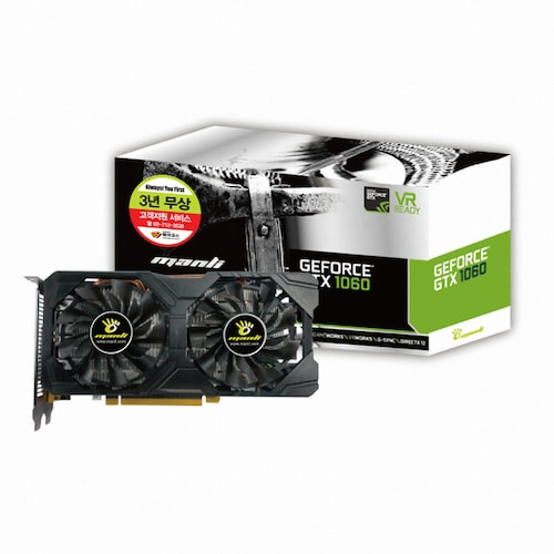 MANLI  지포스 GTX1060 Black Frame D5 3GB OC_이미지