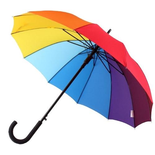 바니브라운 비오니 12K 무지개 곡자 자동 장우산_이미지