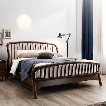 웨스트프롬 빈티지 두오모 원목 평상형 침대 K (F17K매트)_이미지