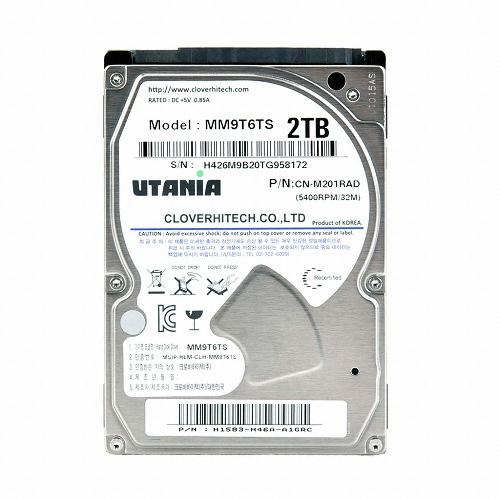 크로바하이텍 2TB UTANIA CN-M201RAD (SATA2/5400/32M/노트북용)