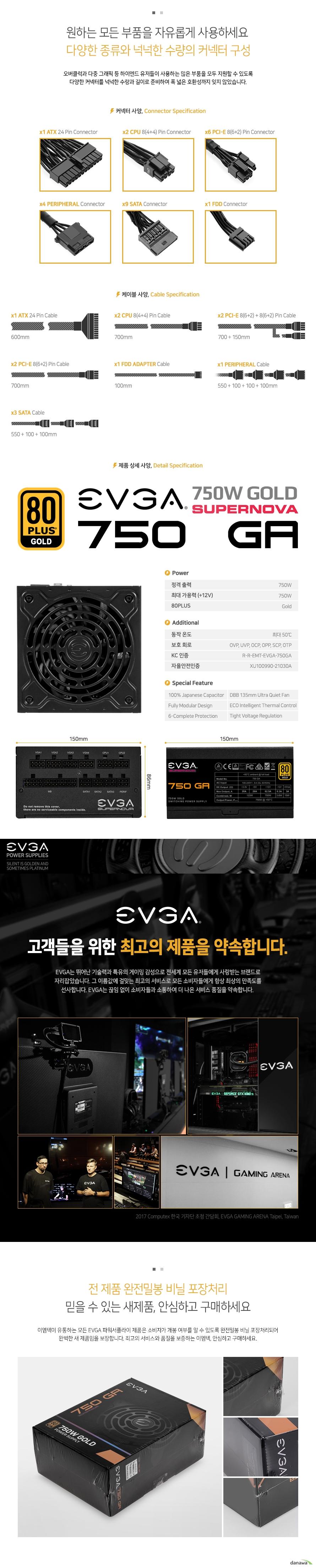 EVGA SUPERNOVA 750 GA 80PLUS GOLD