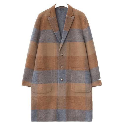 제일모직 빈폴 옐로이시 브라운 배색 콤비 핸드메이드 코트 BC7X30A12B