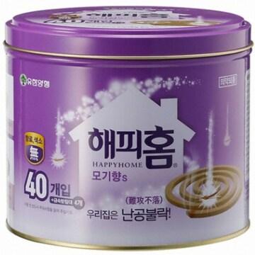 해피홈 모기향S 40개입(4개)