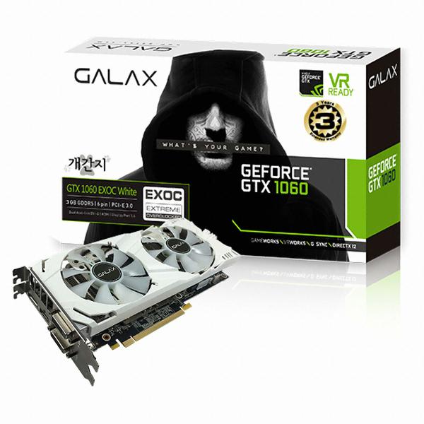 갤럭시 GALAX 지포스 GTX1060 EXOC 개간지 D5 3GB