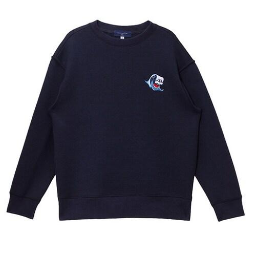 코오롱인더스트리 커스텀멜로우 neoprene point sweatshirt CQTAX16122NYX_이미지