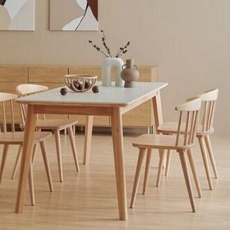 한샘 도노 세라믹 스칸디 식탁세트 1350 (의자4개)_이미지