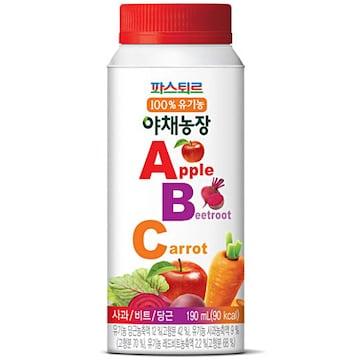 롯데푸드 파스퇴르 유기농 야채농장 ABC주스 190ml