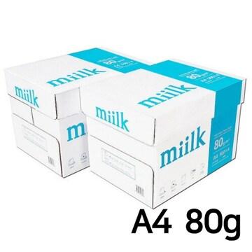 한국제지  밀크 복사용지 A4 80g 박스 (4,000매)