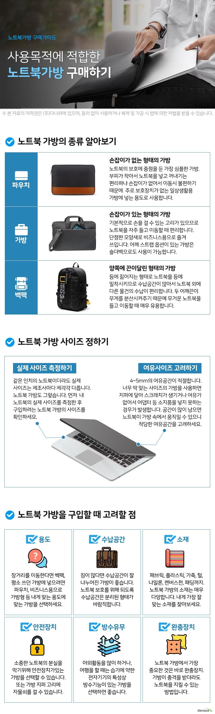 DAMONCOM DAMONCOM 노트북 맥북 파우치 15.6형 NT-395 (다크그레이)