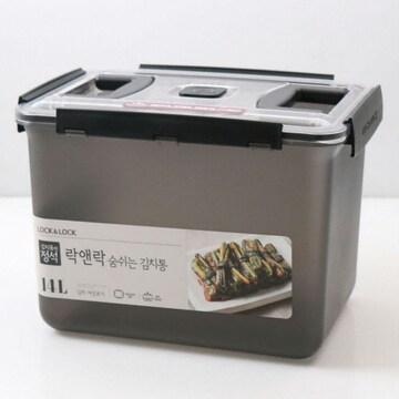 락앤락  숨쉬는 김치통 그레이 14L (HPL875BG)