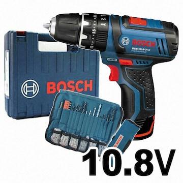 보쉬  GSB 10.8-2-LI Professional (+악세서리, 1.3Ah, 배터리 1개)