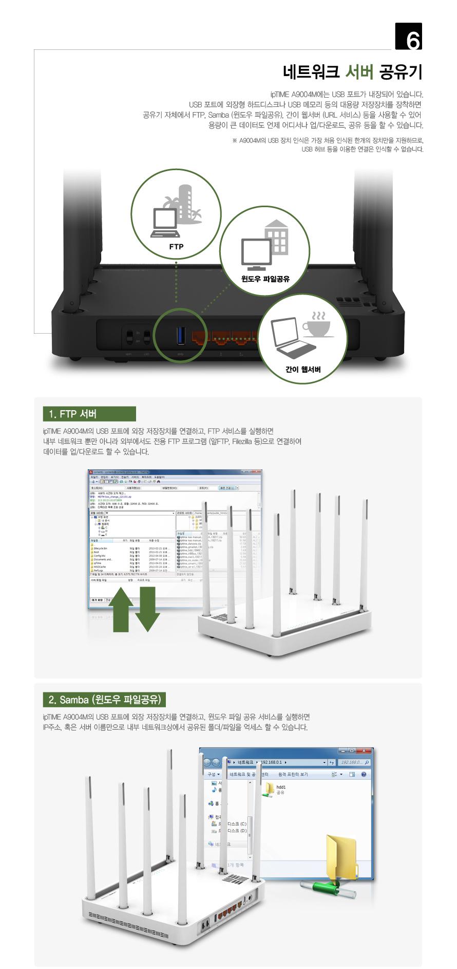 EFM ipTIME A9004M 유무선공유기