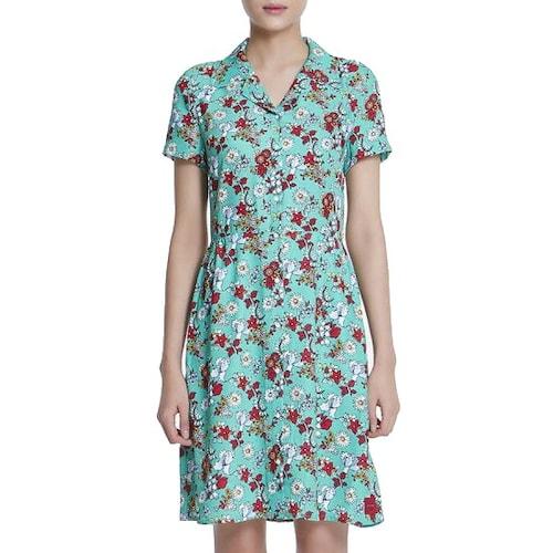 캘빈클라인 캘빈클라인진 여성 플로럴 드레스 J207524_이미지