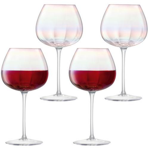 엘에스에이 LSA 펄 진주 컬러 레드 와인잔 460ml(4개)
