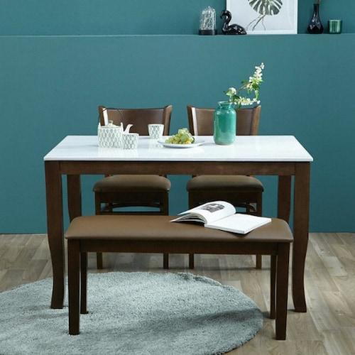 아씨방 미켈 대리석 식탁세트 1200 (의자2개+벤치1개)_이미지