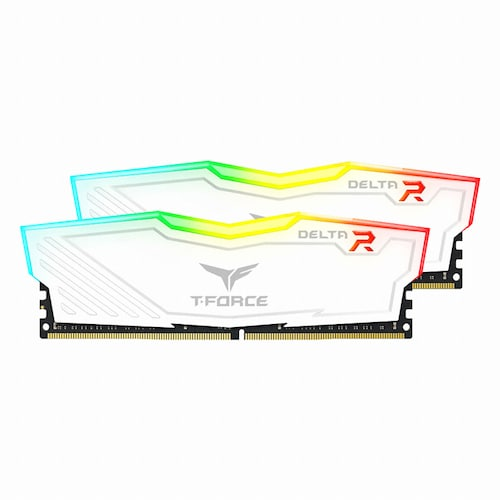 TeamGroup T-Force DDR4 16G PC4-21300 CL15 Delta RGB 화이트 (8Gx2)_이미지