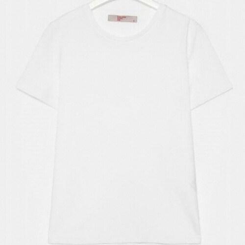 삼성물산 에잇세컨즈 화이트 베이직 데일리 티셔츠 358742CY11_이미지