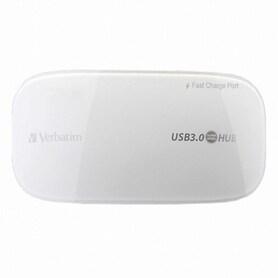 버바팀 4포트 USB3.0 패스트차징 허브 유전원