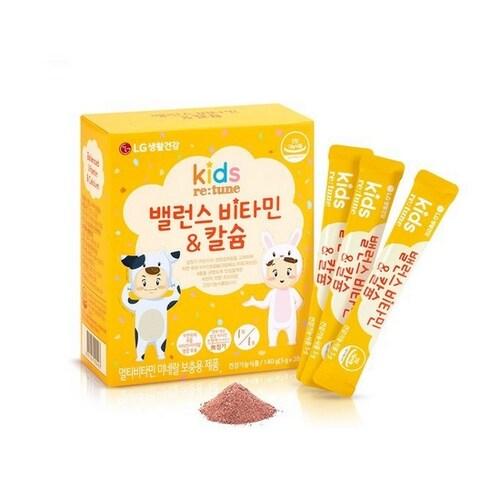 LG생활건강 리튠 키즈 밸런스 비타민&칼슘 28스틱 (3개)_이미지