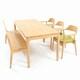 소낭구 소망 원목 식탁세트 1400 (의자2개+벤치1개)_이미지